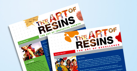 2 Omslagen beursfolder 'The Art of Resins'